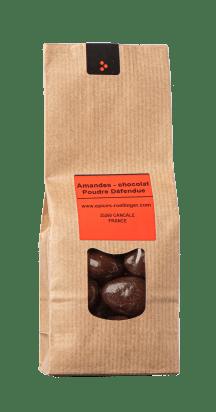 Amandes - chocolat noir & Poudre Défendue