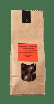 Amandes - chocolat noir & Poudre Kawa